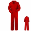 CEB2RD Flame Resistant EXCEL- FR Red Deluxe Coverall
