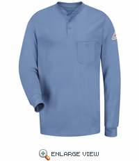 SEL2LB EXCEL- FR™ Light Blue Long Sleeve Henley Shirt
