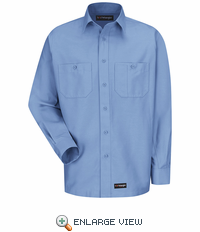 WS10LB Wrangler Long Sleeve Light Blue Workshirt