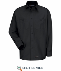WS10BK Wrangler Long Sleeve Black Workshirt