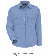 SMU3LB Cool Touch® II Women's Light Blue Button Front Deluxe Shirt