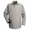 SP16LA Long Sleeve Men's Light Gray Specialized Pocketless Shirt