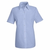 SP25LB Women's Light Blue Short Sleeve Specialized Pocketless Shirt