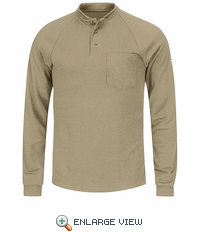 SML2KH Flame Resistant Long Sleeve Khaki Henley Shirt- CoolTouch� /></a><br /> <!--Solid Cactus Click to enlarge v3.0.2--> <div id=