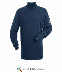 SEK2NV EXCEL- FR™ Long Sleeve Navy Mock Turtle Neck
