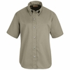SP81KH Women's Khaki Short Sleeve Button Down Poplin Shirts