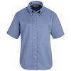 SP81LB Women's Light Blue Short Sleeve Button Down Poplin Shirts
