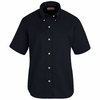 SP81NV Women's Navy Short Sleeve Button Down Poplin Shirts