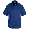 SP81RB Women's Royal Blue Short Sleeve Button Down Poplin Shirts
