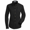 1T11BK Women's Black Long Sleeve Meridian Preformance Twill Shirt
