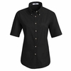 1T21BK Women's Black Short Sleeve Meridian Preformance Twill Shirt