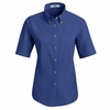 1T21RB Women's Royal Blue Short Sleeve Meridian Preformance Twill Shirt