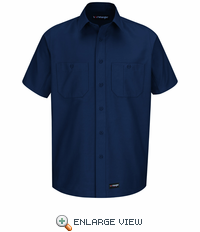 WS20NV Wrangler Short Sleeve Navy Workshirt