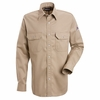 SES2TN Excel-FR™ Tan Snap Front Deluxe Shirt