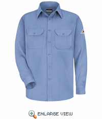 SMU4LB Light Blue Flame Resistant Dress Uniform Shirt - CoolTouch®