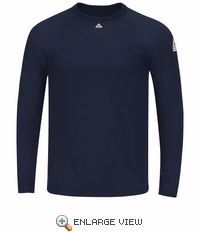SMT4NV Flame-Resistant-Power Dry® FR Long Sleeve Tagless Navy T-shirt