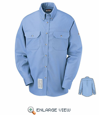 SLU2LB EXCEL- FR COMFORTOUCH Light Blue Dress Uniform Shirt