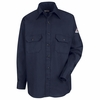 SLU8NV Men's Navy Excel-FR ComforTouch 6 oz. Uniform Shirt
