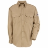 SLU8KH Men's Khaki Excel-FR ComforTouch 6 oz. Uniform Shirt