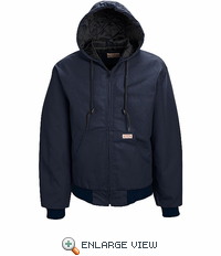 JD20ND Blended Zip Front Navy Duck Hooded Jacket