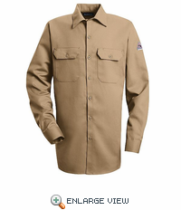 SLW2KH EXCEL- FR™ COMFORTOUCH® Khaki Button Front Work Shirt