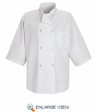 0404WH 1/2 Sleeve White Chef Coat