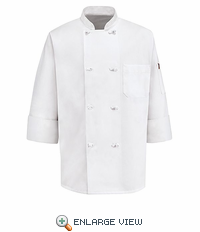 0414 Eight Knot-Button Chef Coat W\Thermometer Pocket