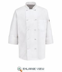 0420WH White Executive Chef Coat