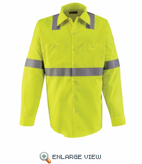 SMW4HV - Hi-Visibility Flame-Resistant Work Shirt-Long Sleeve