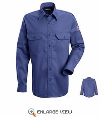 SND2GB NOMEX® IIIA 4.5 oz. Gulf Blue Button Front Deluxe Shirt HRC1