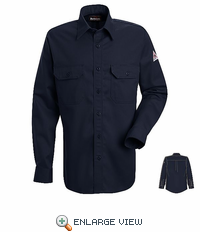 SND2NV NOMEX® IIIA 4.5 oz. Navy Button Front Deluxe Shirt HRC1