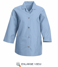 TP31LB Women's Light Blue Loose 3/4  Sleeve Smock