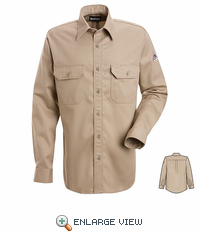 SND2TN NOMEX® IIIA 4.5 oz. Tan Button Front Deluxe Shirt HRC1