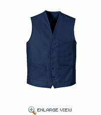 1360NV Navy V-Neck Button Front Vest