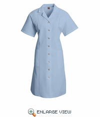 DP23LB Women's Light Blue Button Front Dress