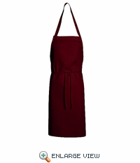 1430DR Dark Red Standard Bib Apron Without Pockets