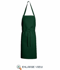 1430HG Hunter Green Standard Bib Apron Without Pockets