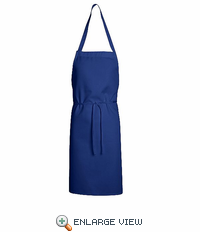 1430RB Royal Blue Standard Bib Apron Without Pockets