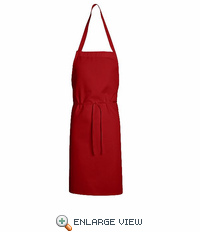 1430RD Red Standard Bib Apron Without Pockets