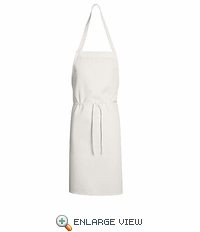 1430WH White Standard Bib Apron Without Pockets