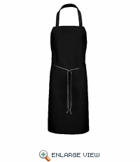 1751BK Black Standard Bib Apron With Pencil Pocket