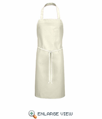1751WH White Standard Bib Apron With Pencil Pocket