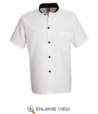 SP04WH White with Black Trim Cook Shirt