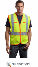 CornerStone® - ANSI Class 2 Dual-Color Safety Vest. CSV407