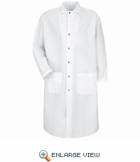 KS58A  100% Polyester - White Full Cut Butcher Coat