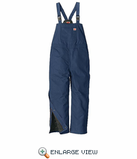 BD30ND Navy Blended Duck Insulated Bib Overall