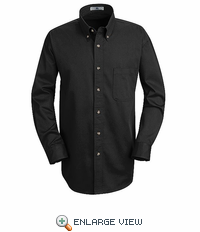 1T12BK Black Long Sleeve Meridian Preformance Twill Shirt