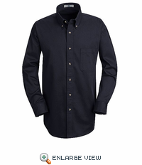 1T12NV Navy Long Sleeve Meridian Preformance Twill Shirt