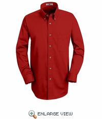 1T12RD Red Blue Long Sleeve Meridian Preformance Twill Shirt