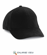 HB20BK Black Cotton Ball Cap